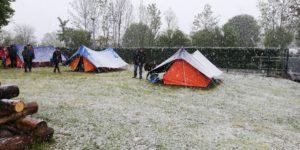L'hiver comment camper la neige